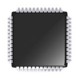 3D Render Microchip. Royalty Free Stock Image