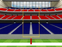 3D render of modern American football super bowl lookalike stadium - 3d render. 3D render of beautiful modern American football super bowl lookalike stadium whit Royalty Free Stock Photography
