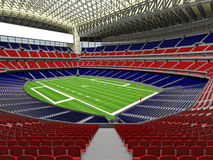 3D render of modern American football super bowl lookalike stadium - 3d render. 3D render of beautiful modern American football super bowl lookalike stadium whit Royalty Free Stock Image