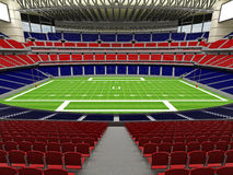 3D render of modern American football super bowl lookalike stadium - 3d render. 3D render of beautiful modern American football super bowl lookalike stadium whit Stock Images