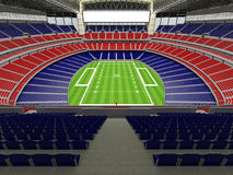 3D render of modern American football super bowl lookalike stadium - 3d render. 3D render of beautiful modern American football super bowl lookalike stadium whit Royalty Free Stock Images