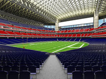 3D render of modern American football super bowl lookalike stadium - 3d render. 3D render of beautiful modern American football super bowl lookalike stadium whit Royalty Free Stock Photos