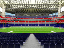 3D render of modern American football super bowl lookalike stadium - 3d render. 3D render of beautiful modern American football super bowl lookalike stadium whit Stock Image