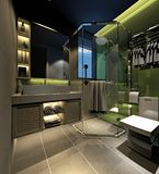 3D Render of bathroom. 3D Render of modern bathroom Royalty Free Stock Image