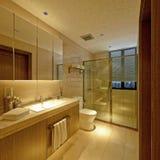 3D Render of bathroom. 3D Render of modern bathroom Stock Images