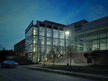 3d render of building exterior. 3d render of modern building exterior stock illustration