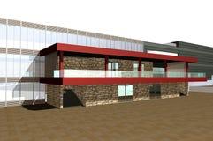 3D render of modern building Stock Photos