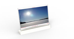White Transparent Computer Screen Stock Image
