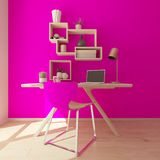 3D Render of a modern home office. Render of a 3D modern home office royalty free illustration