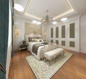 3d render of hotel room. 3d render of modern hotel room, hotel suite stock illustration