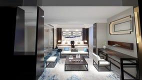 3d render of hotel room. 3d render of modern hotel room, hotel suite vector illustration
