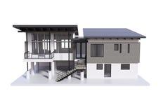 3d render of modern house isolated. vector illustration