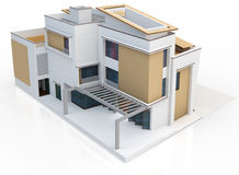 3d render of modern house Royalty Free Stock Photography