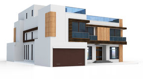 3d render of modern house Royalty Free Stock Images