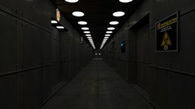 Modern interior scifi architecture stock illustration