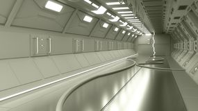 Modern interior scifi architecture royalty free stock images