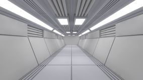 Modern interior scifi architecture stock images