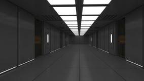 Modern interior scifi architecture royalty free illustration