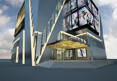 3d render of modern luxury business building Royalty Free Stock Photo