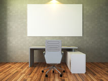 3d render of modern workplace Royalty Free Stock Photography