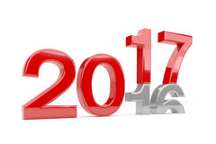 3d render - new year 2017 change concept - red. 3d render - new year 2017 change concept on a white background Royalty Free Illustration