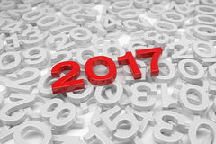 3d render - new year 2017 and past years - red. 3d render - new year 2017 in red and past years on a white background Vector Illustration