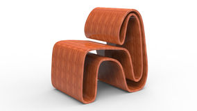 Oak Plywood Chair. 3d render of oak plywood chair Stock Photos