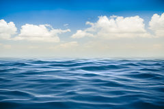 3d render of ocean and beautiful blue sky Royalty Free Stock Image