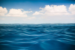 3d render of ocean and beautiful blue sky Stock Image