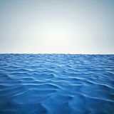 3d render of ocean and beautiful blue sky stock illustration