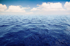 3d render of ocean and beautiful blue sky Royalty Free Stock Images