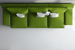 3d render ofgreen couch Stock Photos