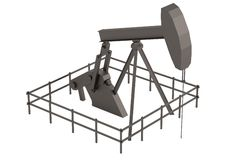 3d render of oil rig Royalty Free Stock Photo