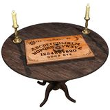 Old table with the ouija board stock illustration