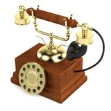 3d render of old telephone Royalty Free Stock Photography