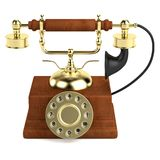 3d render of old telephone Stock Photo