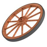 3d render of old wheel Stock Images