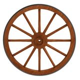 3d render of old wheel Stock Photography