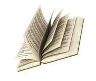 3d render of one open book. On a white background Royalty Free Stock Photo