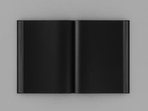 3d render open black book. High resolution Stock Photo