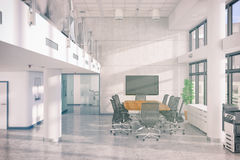 3d render - open plan office - office building Royalty Free Stock Images