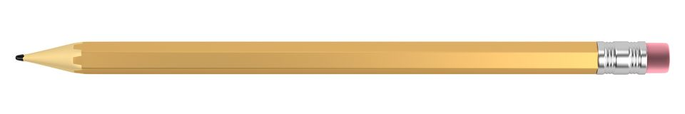3d render of pencil Royalty Free Stock Photo