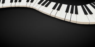 3d render of a piano keyboard in a fluid wavelike movement. Music stock illustration