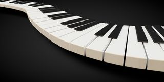 3d render of a piano keyboard in a fluid wavelike movement. Music Royalty Free Stock Images