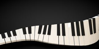 3d render of a piano keyboard in a fluid wavelike movement. Music Royalty Free Stock Image