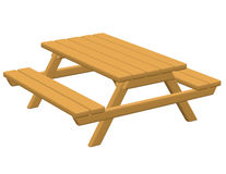3d Render of a Picnic Table Royalty Free Stock Photo