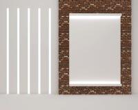 3d render of picture frame blank vector illustration