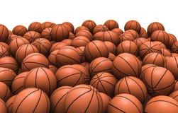 Basketballs pile. 3D render of piled basketballs Stock Image