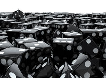 Black dice pile royalty free illustration