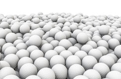 Golf balls pile Stock Photography